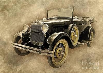 Ford Model T Art Art Print