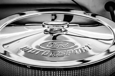 Photograph - Ford Motorsport Engine -0530bw by Jill Reger
