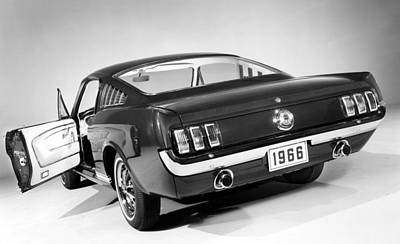 1960s Cars Photograph - Ford Mustang, 1966 Mustang 2+2 Fastback by Everett