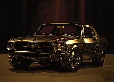 Mixed Media - Ford Mustang 1967 Mixed Media by Paul Meijering