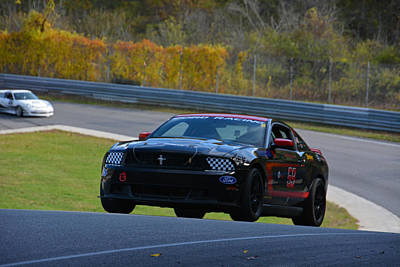 Photograph - Ford Mustang At Lime Rock by Mike Martin