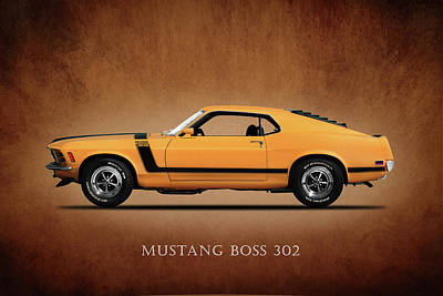 Ford Photograph - Ford Mustang Boss 302 by Mark Rogan