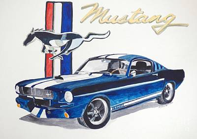 Mustang Car Painting - Ford Mustang by Eva Ason