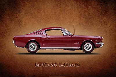 Poster Photograph - Ford Mustang Fastback 1965 by Mark Rogan