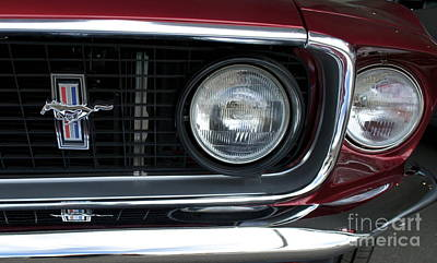 Photograph - Ford Mustang Front Drivers Side by Pamela Walrath