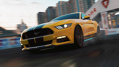 Photograph - Ford Mustang Gt 2015, Long Beach - 03 by Andrea Mazzocchetti