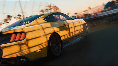 Photograph - Ford Mustang Gt 2015, Long Beach - 05  by Andrea Mazzocchetti