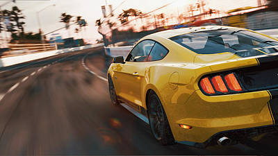 Photograph - Ford Mustang Gt 2015, Long Beach - 06 by Andrea Mazzocchetti