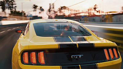 Photograph - Ford Mustang Gt 2015, Long Beach - 07 by Andrea Mazzocchetti