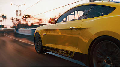 Photograph - Ford Mustang Gt 2015, Long Beach - 08 by Andrea Mazzocchetti