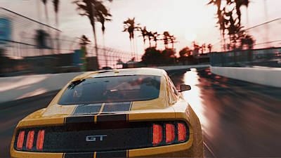 Photograph - Ford Mustang Gt 2015, Long Beach - 09 by Andrea Mazzocchetti