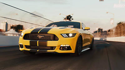 Photograph - Ford Mustang Gt 2015, Long Beach - 10 by Andrea Mazzocchetti