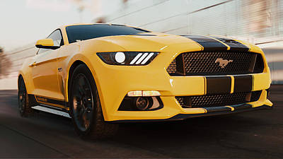 Photograph - Ford Mustang Gt 2015, Long Beach - 11 by Andrea Mazzocchetti