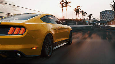 Photograph - Ford Mustang Gt 2015, Long Beach - 12 by Andrea Mazzocchetti