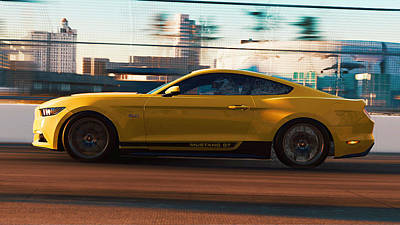Photograph - Ford Mustang Gt 2015, Long Beach - 14 by Andrea Mazzocchetti