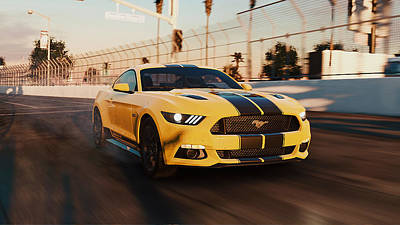 Photograph - Ford Mustang Gt 2015, Long Beach - 15 by Andrea Mazzocchetti