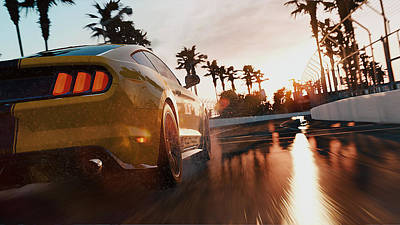Photograph - Ford Mustang Gt 2015, Long Beach - 16 by Andrea Mazzocchetti