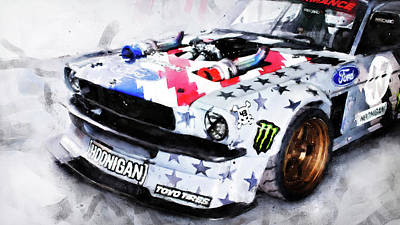 Painting - Ford Mustang Hoonicorn - 04 by Andrea Mazzocchetti