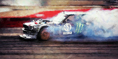 Painting - Ford Mustang Hoonicorn - 06 by Andrea Mazzocchetti