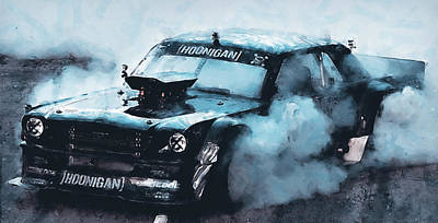 Painting - Ford Mustang Hoonicorn - 07  by Andrea Mazzocchetti