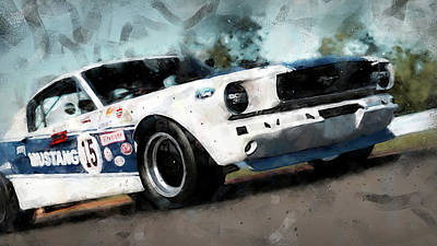Painting - Ford Mustang Rtr, 1966 - 35 by Andrea Mazzocchetti