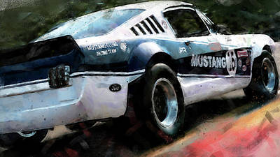 Painting - Ford Mustang Rtr, 1966 - 36 by Andrea Mazzocchetti