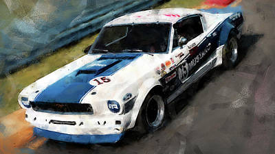 Painting - Ford Mustang Rtr, 1966 - 37 by Andrea Mazzocchetti