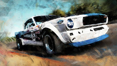 Painting - Ford Mustang Rtr, 1966 - 38 by Andrea Mazzocchetti