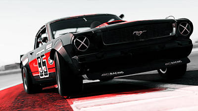Photograph - Ford Mustang Rtr 1966 - 9 by Andrea Mazzocchetti