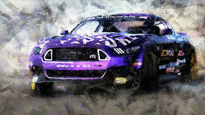 Painting - Ford Mustang Rtr, 2017 - 41 by Andrea Mazzocchetti