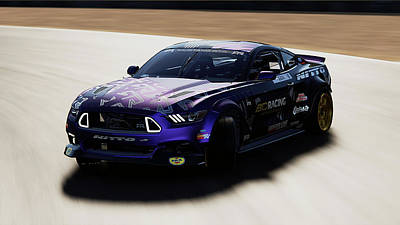 Photograph - Ford Mustang Rtr, 2017 - 53 by Andrea Mazzocchetti