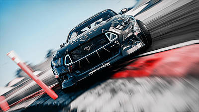 Photograph - Ford Mustang Rtr Drifting  by Andrea Mazzocchetti