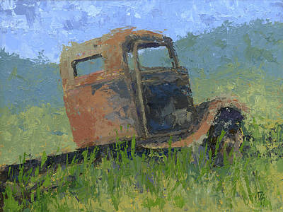 Painting - Ford On The Range Abstract by David King