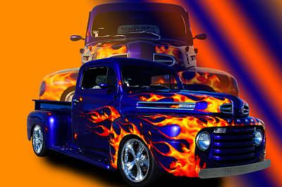 Ford Pick Up Truck Art Print by Jim  Hatch