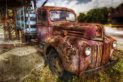 Ford Watercolor Photograph - Ford Pickup Truck by Debra and Dave Vanderlaan