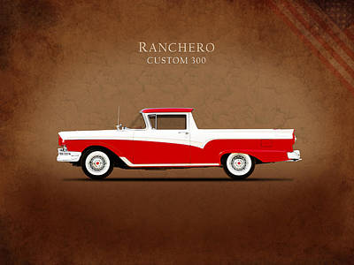 1957 Photograph - Ford Ranchero 1957 by Mark Rogan