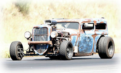 Photograph - Ford Rat Rod by Athena Mckinzie