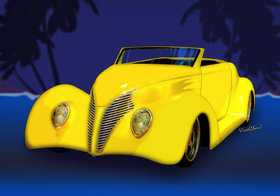 Ford Roadster 1937 In The Palms Art Print
