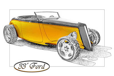 Ford Roadster Art Print by Michael Gass