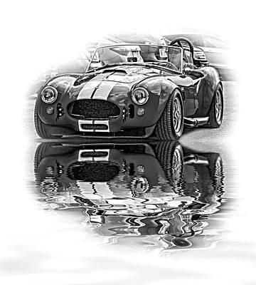 Ford/shelby Ac Cobra - Reflection Bw Art Print