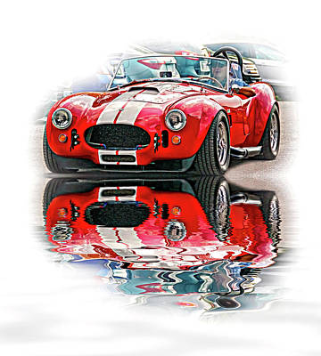 Ford/shelby Ac Cobra - Reflection Art Print