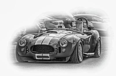 Ford/shelby Ac Cobra - Vignette Bw Art Print