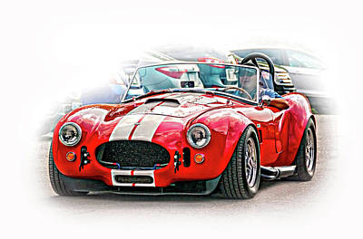 Ford/shelby Ac Cobra - Vignette Art Print
