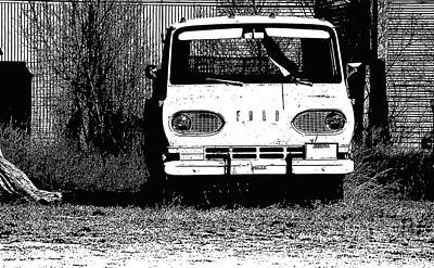 Photograph - Ford Sketched In Black And White by Renie Rutten