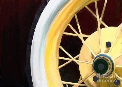 Spare Tire Digital Art - Ford Spokes by Priscilla Wolfe