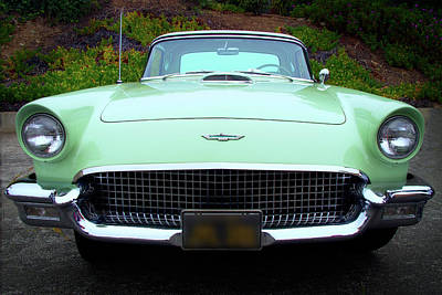 Photograph - Ford Thunderbird 1957 Mint Green by Ram Vasudev