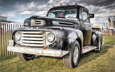 Ford Tough Art Print by Wes Iversen