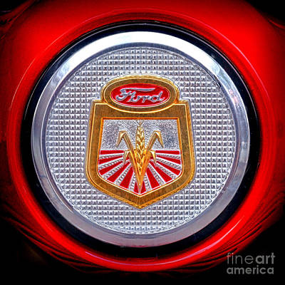 Photograph - Ford Tractor Badge by Olivier Le Queinec