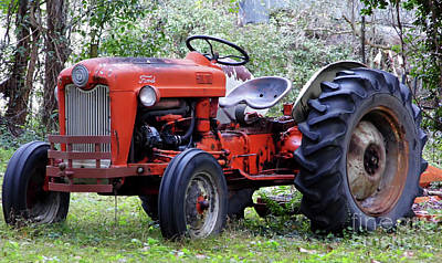 Photograph - Ford Tractor by D Hackett