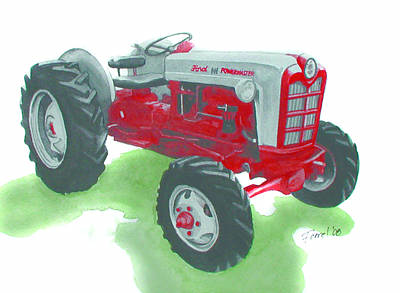 Ford Tractor Art Print by Ferrel Cordle
